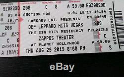 2 Def Leppard Tickets 8/29/19 Zappos Theater At Planet Hollywood Las Vegas NV