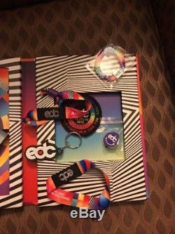 2 General Admission EDC Las Vegas 2018 GA Tickets/Wristbands May 18-20 3-Day