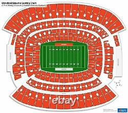 2 Las Vegas Raiders Vs Cleveland Browns Football Tickets 11/01/2020 SECTION 507