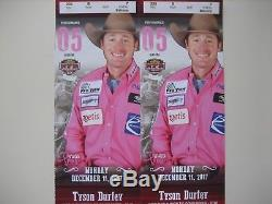 (2) NFR National Finals Rodeo Tickets 12/11/17 Monday Dec 11 Low Balcony Row B