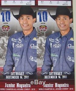 (2) NFR National Finals Rodeo Tickets 12/16/17 Sat Dec 16 LowBalcony Row K Aisle