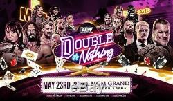 2 Tickets AEW Double or Nothing 5/23/20 MGM Las Vegas, NV FLOOR SEATS