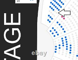2 Tickets May-7-21 Sting Las Vegas Tickets-4th ROW from stage, Sec 102 Row F