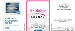 2 Tickets Michael Buble Las Vegas 3/30 AMAZING SEATS 2 Rows from stage