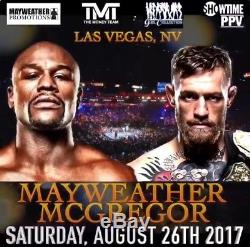 2 VIP Tickets Floyd Mayweather vs. Conor McGregor-T-Mobile Arena 8/26/17