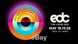 2018 Electric Daisy Carnival EDC 3 Day Pass General Admission