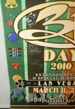 311 Day band signed poster 2010 Las Vegas autographed withTicket Mandalay Bay
