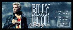 Billy Idol October 2019 Las Vegas Concert and Meet-and-Greet tickets