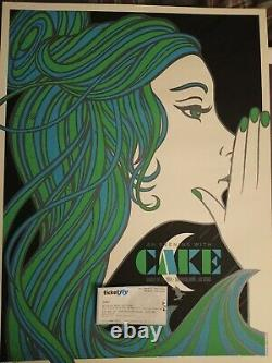 Cake Concert Poster Las Vegas Todd Slater Limited Edition 248 Of 260 With Ticket