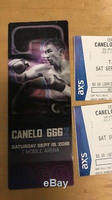 Canelo vs GGG fight tickets 9/15/2018 Las Vegas, NV SELLING 1 TICKET VIP HYDE