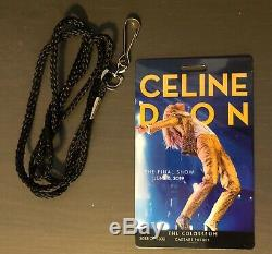 Celine Dion Final Show Special Lanyard Ticket Las Vegas Colosseum Caesars Palace