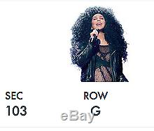 Cher Tickets Las Vegas Saturday Feb. 3 7th Row! GREAT SEATS AT COST
