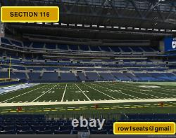 Deposit on 2 Front row Las Vegas Raiders at Colts tickets section 116 row 1