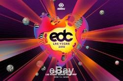 EDC Las Vegas May 18-20 2018 Electric Daisy Carnival 3 Day Pass / Ticket