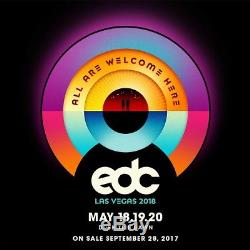 Electric Daisy Carnival 3-day wristbands 1-4 available EDC 2018
