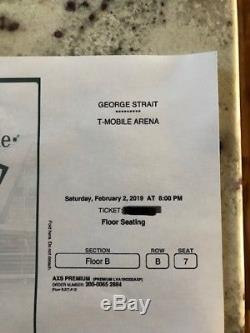 George Strait Las Vegas 2/2/2019 Section B row B
