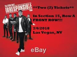 Kevin Hart 7/6/18 MGM Grand Garden Arena 2 FRONT ROW A Sec 15 Tickets Las Vegas