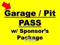 LAS VEGAS NASCAR Team Package. Pass, Garage, Decal, Pits, and more