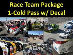 Las Vegas NASCAR Team Package. Cold Garage, Pits, Decal & more
