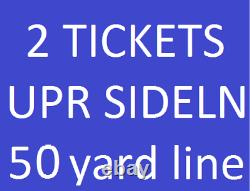 Las Vegas Raiders @ Indianapolis Colts 2021 2 tickets Sect 124 Row 23