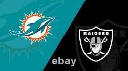 NFL Week 3 Las Vegas Raiders vs Miami Dolphins 9/26/21 2 Tickets SOLD OUT