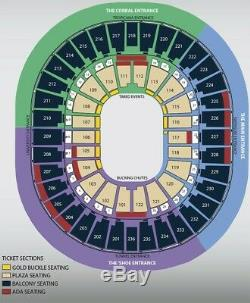 NFR National Finals Rodeo, 2 Tickets, Tuesday December 10, 2019 LOWER BALCONY