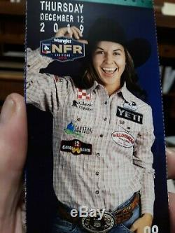 National Finals Rodeo Tickets, low balcony on rail, unobstructed view