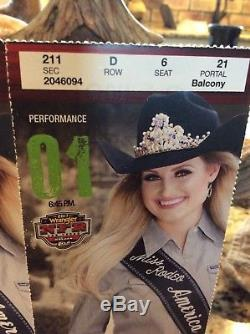 National Finals Rodeo tickets (2) First Performance 12/7/17