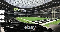 Sec 105 Row 7- Las Vegas Raiders vs Chicago Bears 10/10/21 (2 Tickets) SOLD OUT