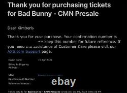 TWO BAD BUNNY 2022 TOUR Las Vegas Nv MGM Tickets