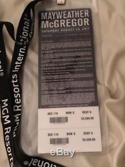 Ticket from Mayweather McGregor fight in Las Vegas August 2017. Amazing seats