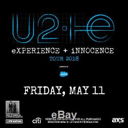 U2 Tickets Las Vegas May 11th 2018 Lower Section Below face value 2 Tickets