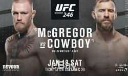 UFC 246 2 Tickets Section 206 Row B, Second Row Instant Delivery, Conor Mcgregor