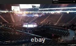 UFC 264 Conor McGregor vs Dustin Poirier, 2 4 tickets together Section 8 Row Z