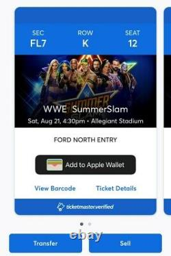 WWE SummerSlam Vegas 8/21/21- 2 FLOOR SEATS with Take Home Chairs